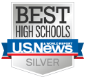 U.S News and World Report Best High Schools badge Silver