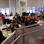 Harry Hoag teachers work on Superindent's Day