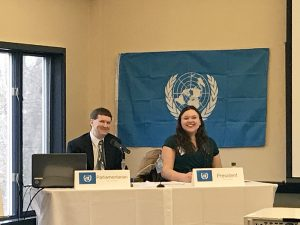 Quinn Jones represents Fort Plain at the Model UN.