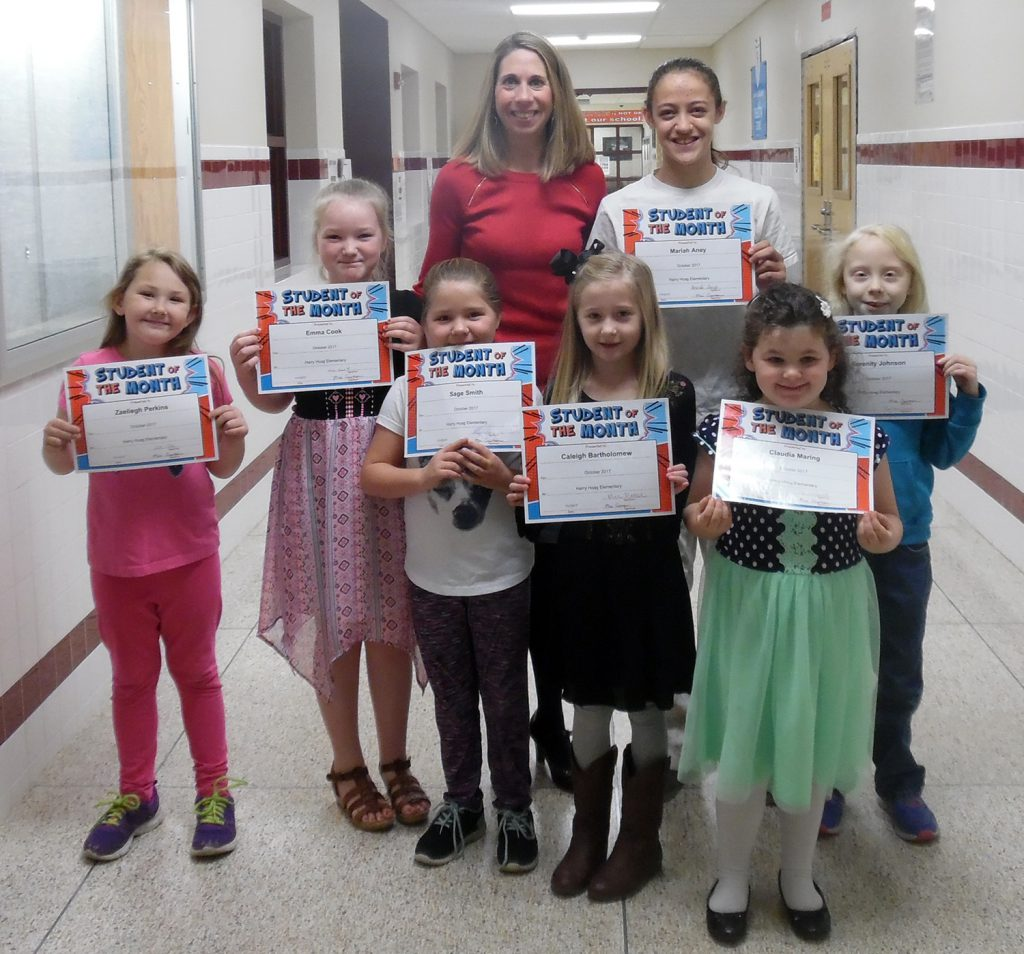 Fort Plain Harry Hoag Students of Month Oct