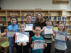 December elementary student of the month students