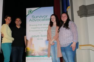 Steve and Jacy with Fort Plain SADD President and vice president