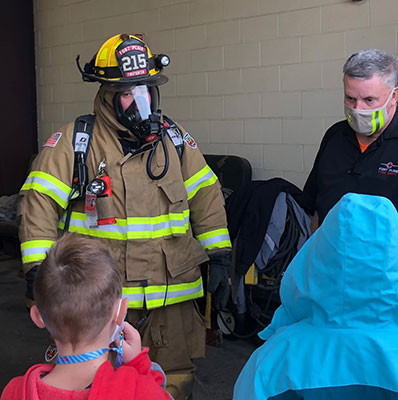 Fort Plain fire fighters teach Harry Hoag students prevention and safety