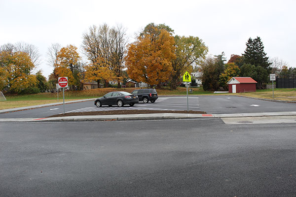 new parking lot and loop are
