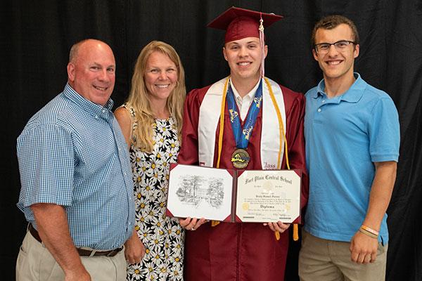John Fureno at his son's graduation