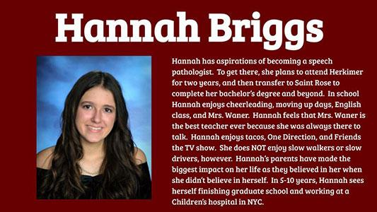 Hannah Briggs photo and profile